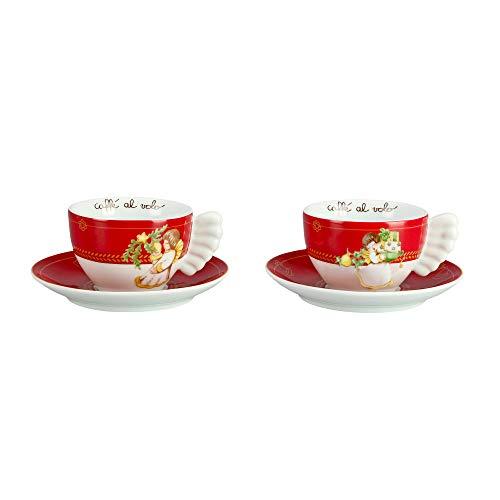 THUN  - Set 2 Tazze Medie - Linea Dolce Natale - Porcellana - 200 ml