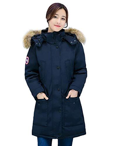 Winterparka dames lange grote maten gewatteerde jas met bontcapuchon lange mouwen warm meisje verdikke mode elegante winterjas grote maten Coat hoogwaardige