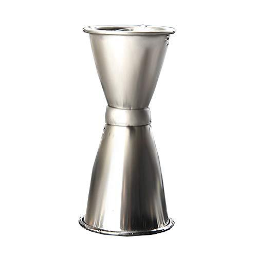 Doseur en Acier INOX Cocktail Mesure Alcool Jigger Single Double Verre Bar Doseur à Alcool Double 15 / 30ml, 25 / 40ml, 30 / 40ml FENGMING (Couleur : Silver, Taille : 30/40ml)