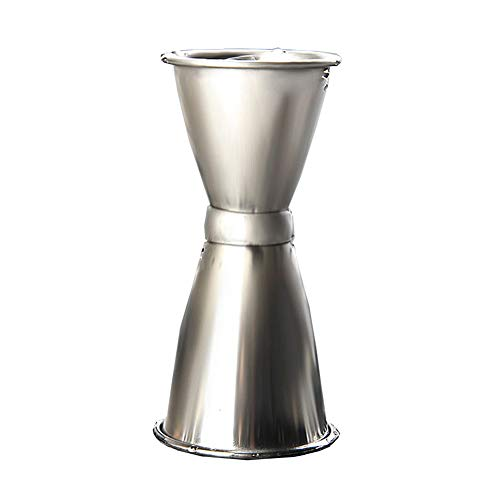 Doseur En Acier Inox Cocktail Mesure Alcool Jigger Single Double Verre Bar Doseur à alcool double 15 / 30ml, 25 / 40ml, 30 / 40ml FENGMING (Couleur : Silver, taille : 30/40ml)