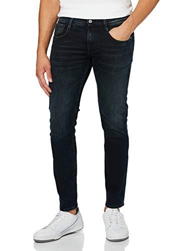 REPLAY Anbass Jeans, Blu Scuro B74, 27W / 32L Uomo