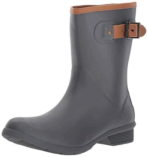 Chooka Women's Mid-Height Memory Foam Rain Boot, Charcoal, 11 M US