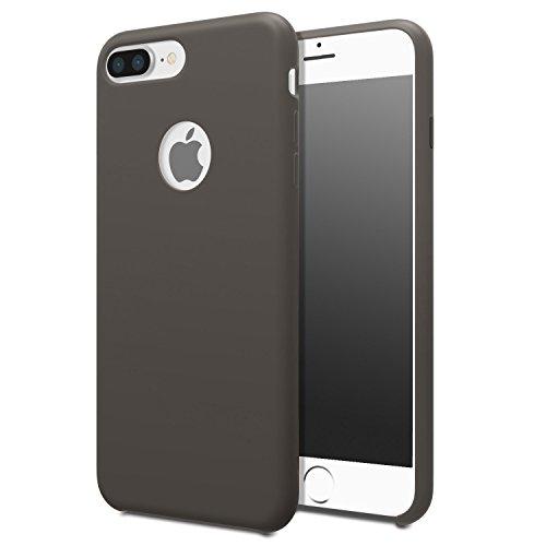 Liscio Liquido Silicone Cover Per Apple iPhone 7 Plus - Cacao