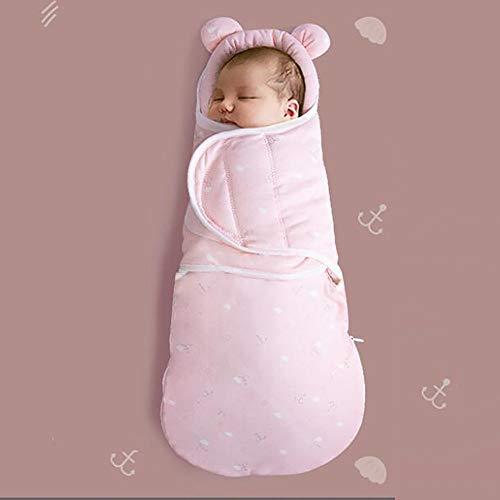 Pasgeboren slaapzak-pring en herfst anti-springen quilt katoen pasgeboren tas handdoek herfst en winter verdikte baby slaapzak quilt roze