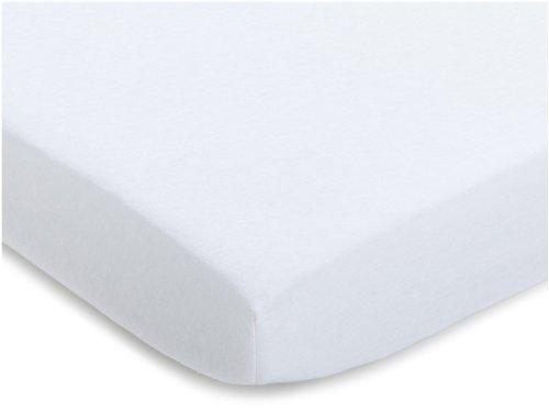 Julius Zöllner 8350013100 - Spannbetttuch Jersey für Stillbett, Größe: 50 x 100 cm, Farbe: weiß