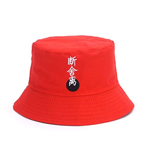 AROVON Schwarz Eimer Hut Für Männer Frauen Mode Pop Eisen Ring Bob Kappe Handgemachte Sommer Sonnenhut