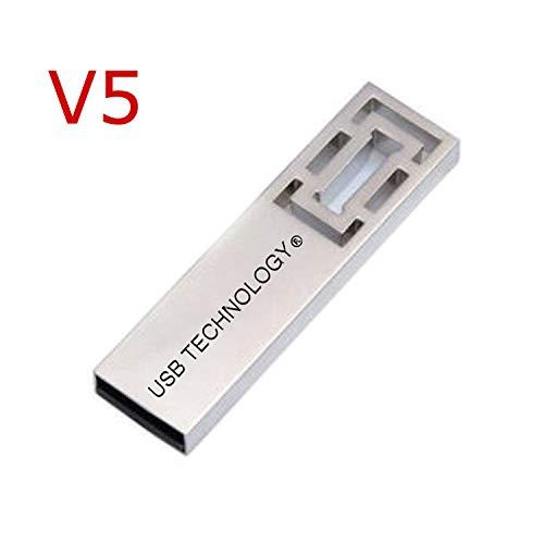 2048 GB (2 TB) USB Stick - V5 - REAL KAPAZITAT - High Speed - Silber - Flash Memory, TOP QUALITÄT