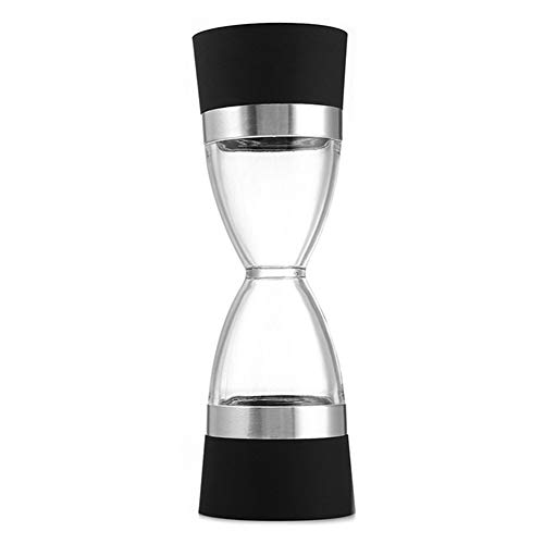 Manualmente 2 en 1 Forma Doble Pepper Pepper Mill Spice Grinder Pepper Shaker para herramientas de cocina de cocina (Color : Black)