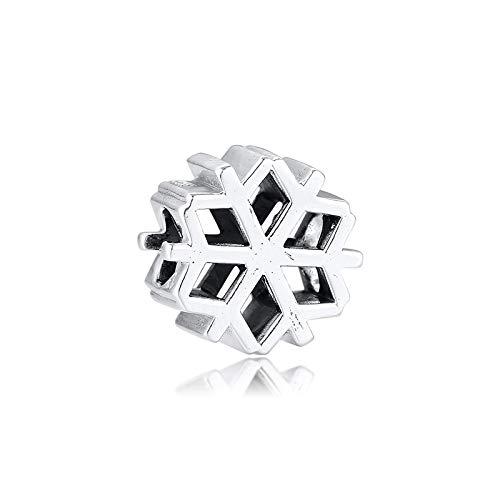 Fit Original Pandora Bracelets Diy 925 Sterling Silver Polished Snowflake Charms Bracelet Charm Beads For Jewelry Making Bead Kralen