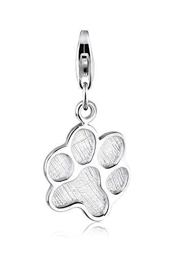 Elli Amuletos Colgante para mujer en diseño de huella de pata de gato, de plata de ley 925