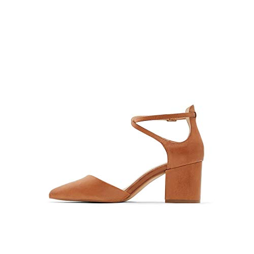 ALDO Women's Brookshear Block Heel Pump, Cognac, 9