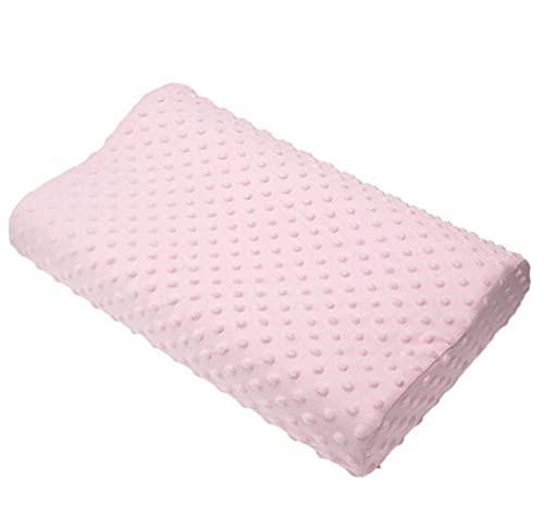 Memoria de Espuma Almohada Cervical Almohada Fibra Rebote Lento Almohada Suave Columna Cervical Cuidado de la Salud y Dormir cómodo-Rosa / 50x30 cm