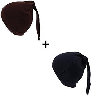 Iridescentlife Solid Newborn Tire Beanies Cotton Girls Boys Hat (Coffe+Navy) [並行輸入品]