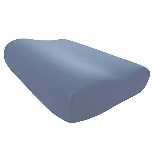 Edda Lux - Funda para almohada Tempur Original S/M/L/XL | 50 x 31 cm | en 20 colores | funda de almohada para almohada cervical | algodón | Color: azul vaquero