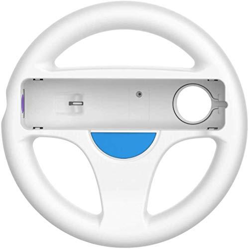 DOYO 1er Pack White Wheel Lenkung Wii Controller Design Stand Mario Kart Rennspiel Lenkradständer für Wii Game Controller