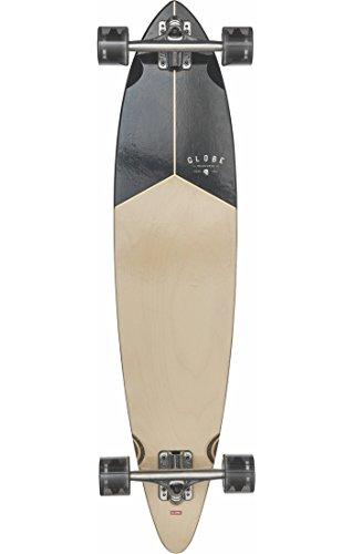 Globe Skateboard Pintail Longboard 37Complete Skateboard, Teak/Nero