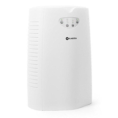 Klarstein Vita Pure - Luftreiniger, Lufterfrischer, Ionisator, 35 Watt, 5-in-1 Filtersystem, 108 m³/h, Touch-Bedienung, für Allergiker, weiß