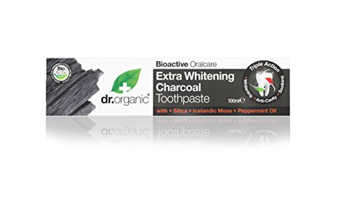 DR ORGANIC Toothpaste Activated Charcoal, 100 Milliliter