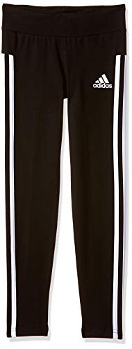 Adidas Yg 3S Tight Mallas, Niñas, (Negro Blanco), 128