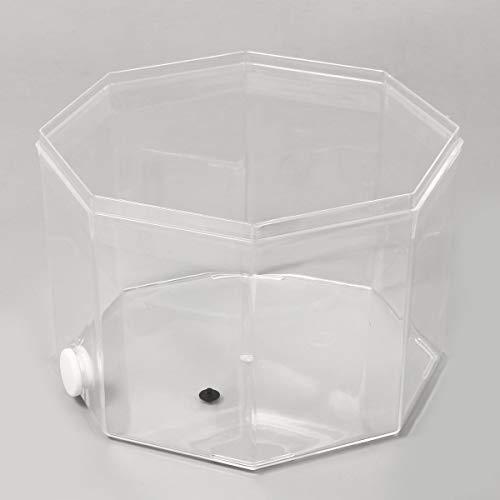 MINGMIN-DZ Dauerhaft Vier-Block-Mini Betta-Fisch-Behälter-Desktop löschen Meeres Aquaponic Aquarium Fische Schüssel mit Wasserpumpe Pumpenrohrpflanzkorb