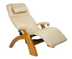 Big Sale The Perfect Chair Zero Anti Gravity Recliner by Human Touch HT PC6 / PC-6 Maple Recline Wood Base Ivory Bonded Leather Zero Anti Gravity Chair