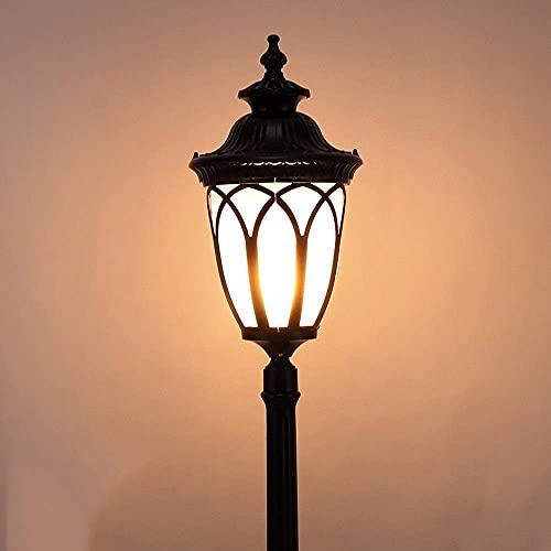 Living Equipment Luz de calle de jardín europeo al aire libre de una sola cabeza Impermeable Ip54 Lámpara de estigma de piso europea Fuera de poste alto americano Patio Corredor Plaza Césped Poste
