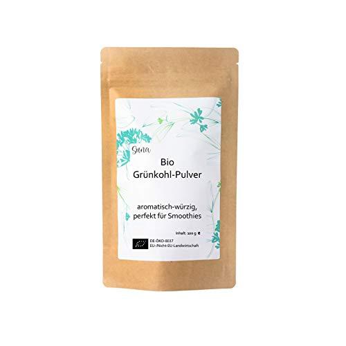 Suna® Bio Grünkohl-Pulver | aromatisch-würzig, perfekt für Smoothies | Päckchen 100 g