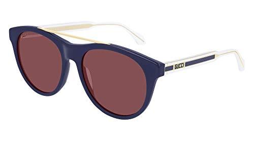 Gucci Gafas de sol GG0559S 004 Gafas de sol hombre color Azul burdeos medida de la lente 54 mm