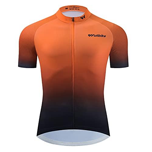 logas Maillot Cyclisme Homme Vetement Sport Manches Courtes T Shirt VTT Pro Respirant