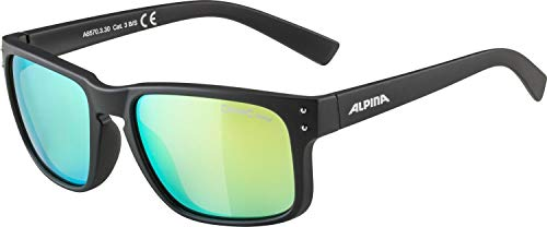 ALPINA KOSMIC Sportbrille, Unisex– Erwachsene, black matt, one size