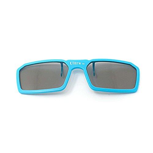 Ultra 1 x Blue Clip On 3D Glasses Passive 3D Glasses Men Women TVs For use with RealdD Cinemas and Passive 3D Tvs For Prescription Glass Wearers Polorised Cinema Glasses 3D Glasses for TV
