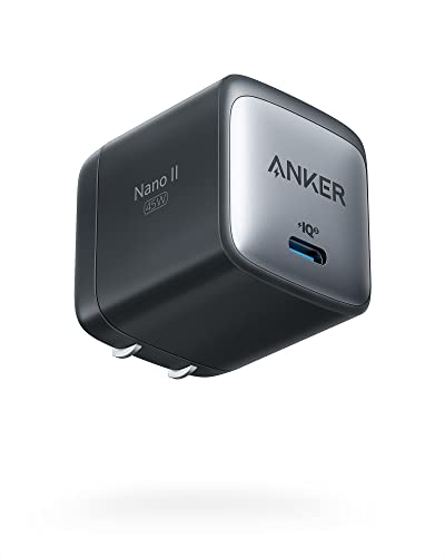 USB C Charger, Anker Nano II 45W Fast Charger Adapter, PPS Supported, GaN II Foldable Compact...