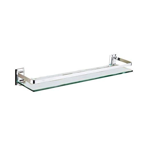 Glazen plank, veiligheidsglas, rek, badkamer, douche, wandbevestiging, rechthoekig, accessoires, mat afwerking, 12~32 inch 0304