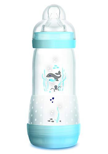 Mam Easy Start Biberon Anticolica Autosterilizzante con Tettarella Mis 3, 4+ mesi, 320 ml, azzurro