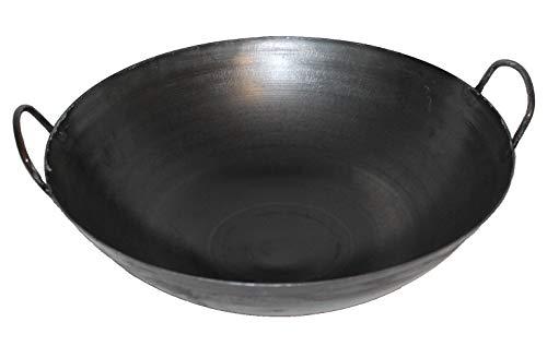 Original WOK-PFANNE aus CHINA-GASTRONOMIE 40cm runder Boden-nur für Gasherde