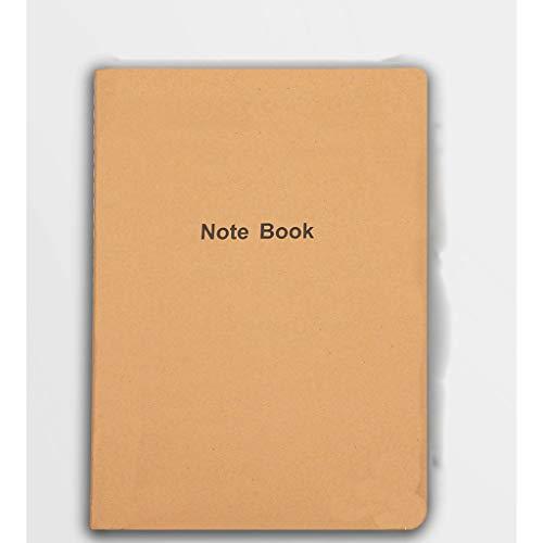 Cuaderno clásico Paquete de 10, Bloc de Notas del Estudiante, Suave Covernotebook, el Libro Original de Kraft, Home Office Business School, Colegio Papel gobernado del Cuaderno, 8.2'x5.8
