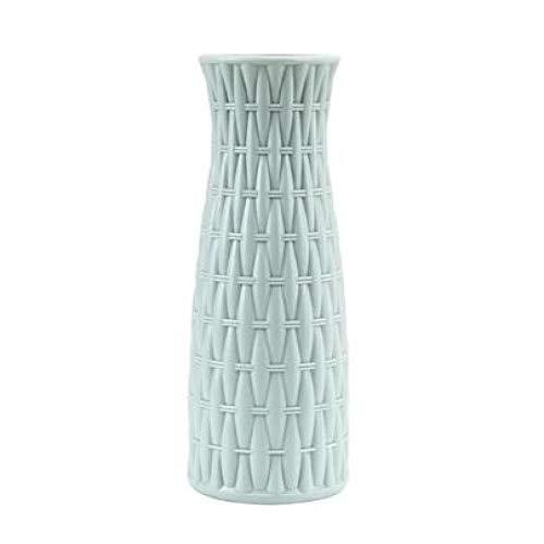 NA vaas bloemenmand bloemenvaas Origami plastic vaas fles imitatie keramiek bloempot decoratie thuis blauw