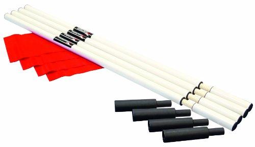 Precision Pro Corner - Banderín de córner para fútbol, Color Blanco Roto, Talla UK: 6 Ft