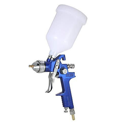 Awsuc Lackierpistole Spritzpistole Set 1,7mm mit 600 ml Plastikbecher Profi Farbsprühsystem Spraypistole und Edelstahldüse 1,7mm