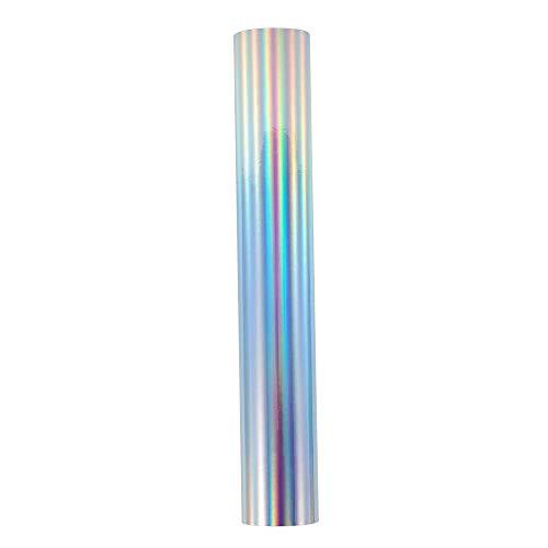 Lámina de vinilo holográfica cromada para manualidades de 30,5 x 152 cm, para camafeo y otros cortadores de manualidades para decoración