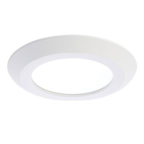 "Halo SLD606930WHJB Surface LED Downlight, 6"", 120V, 90 CRI, 3000K, White, Junction Box Mount Only"