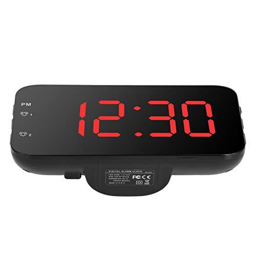 N'C Reloj De Escritorio Portátil De Reloj De Alarma Digital Led con Snooze para El Dormitorio En Casa Trave Lred