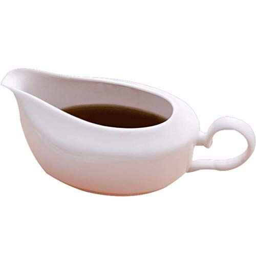 dxzsf Gravy and Sauce Boat Sauce Boat with Tapered Spout Porcelain Gravy Boat Dinnerware Porcelain Easy Pour Gravy Sauce Boat Sauce Boat Gravy Boat Juice Sauce Roasting Sauce