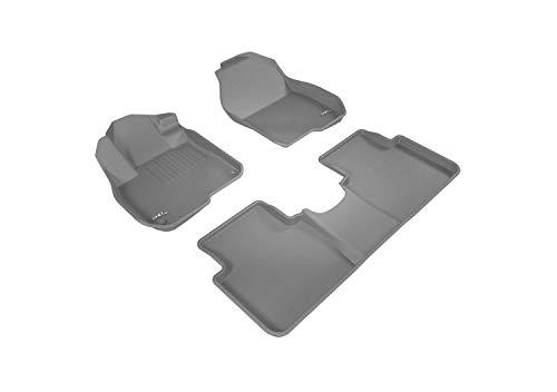 3D MAXpider L1HD08601501 Complete Set Custom Fit All-Weather Floor Mat For Select Honda CR-V Models - Kagu Rubber (Gray)