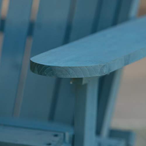 W Home WRED-031-1-BL Reclining Muskoka Chair with Ottoman, Blue