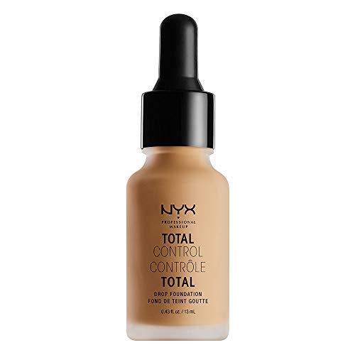 NYX Professional Makeup Fond de Teint Liquide Total Control Drop, Dosage Précis, Couvrance Modulable, Tenue Longue Durée, Finit Mat, Teinte : Classique Tan