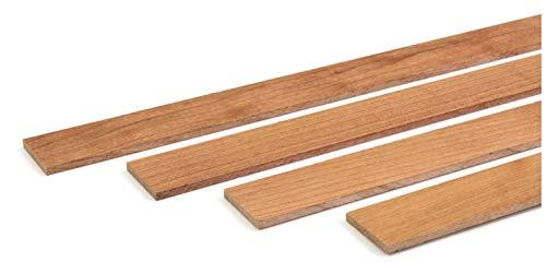 wodewa - Moldura de madera de cerezo barnizada, 1 m, 30 x 4 mm, para revestimiento de pared, techo o suelo, para manualidades