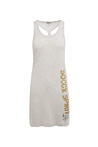 SOCCX Damen Beach-Kleid mit Knoten-Detail am Rücken