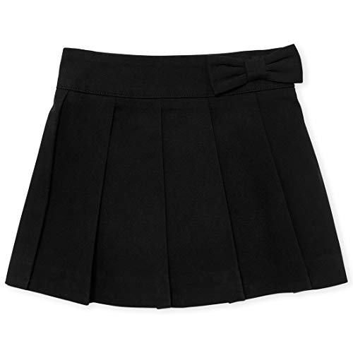 The Children's Place Baby Girls Solid Uniform Pleated Woven Pull On Skort, Black, 5T