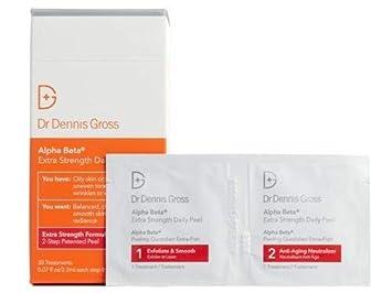 Amazon.com: Dr. Dennis Gross Skincare Alpha Beta Extra Strength Daily Peel  - 30 packettes: Beauty